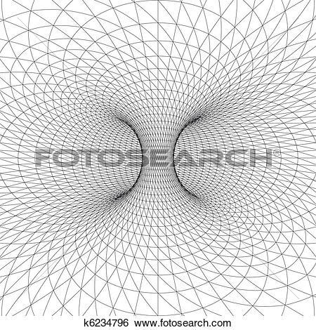 Clip Art of Torus (Donut) wireframe symbol k6234796.