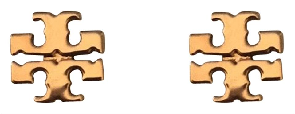 Tory Burch Rose Gold Stud Logo 11165504 Earrings 30% off retail.