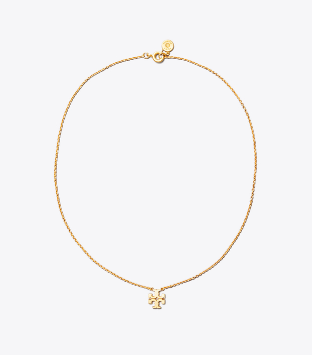 Tory Burch Logo Charm Delicate Necklace: Women\'s Accessories.