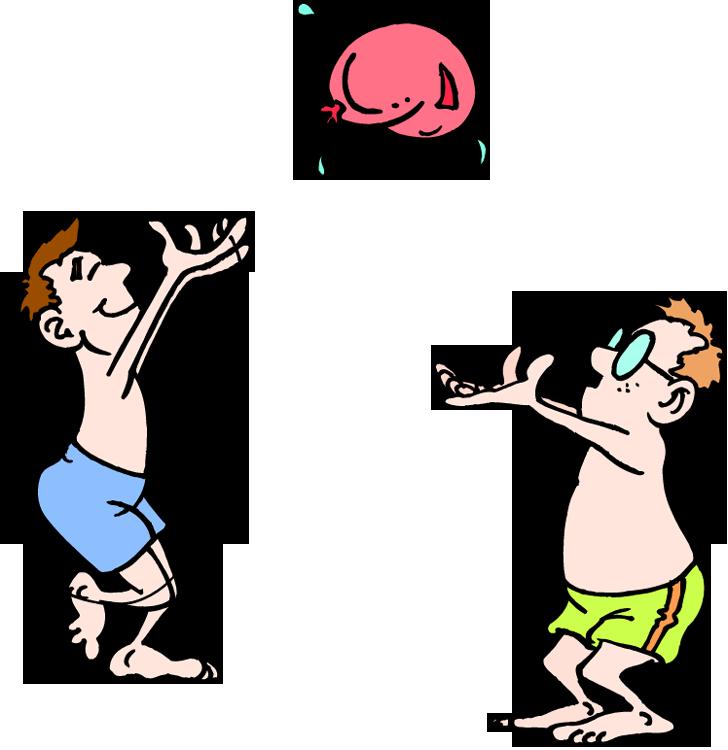Balloon toss clipart.