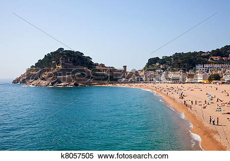 Stock Image of Sand beach in Tossa de Mar k8057505.