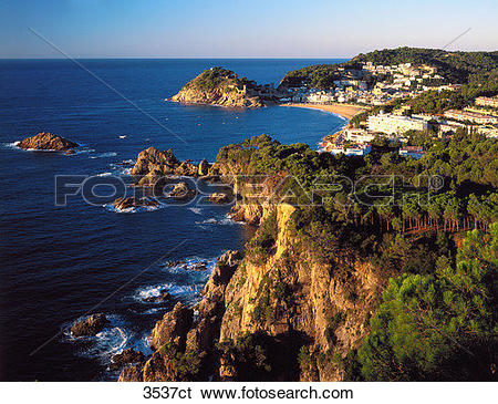 Stock Images of Spain, Costa Brava, Tossa de Mar. 3537ct.