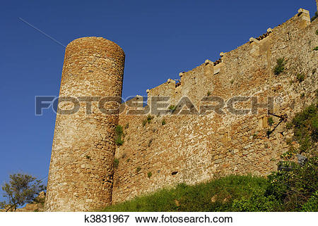 Picture of castle in Tossa Del Mar,Costa Brava k3831967.
