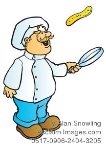 Tossing Pancakes Clipart.