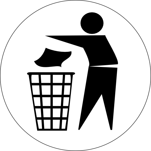 Doctormo Put Rubbish In Bin Signs Clip Art at Clker.com.