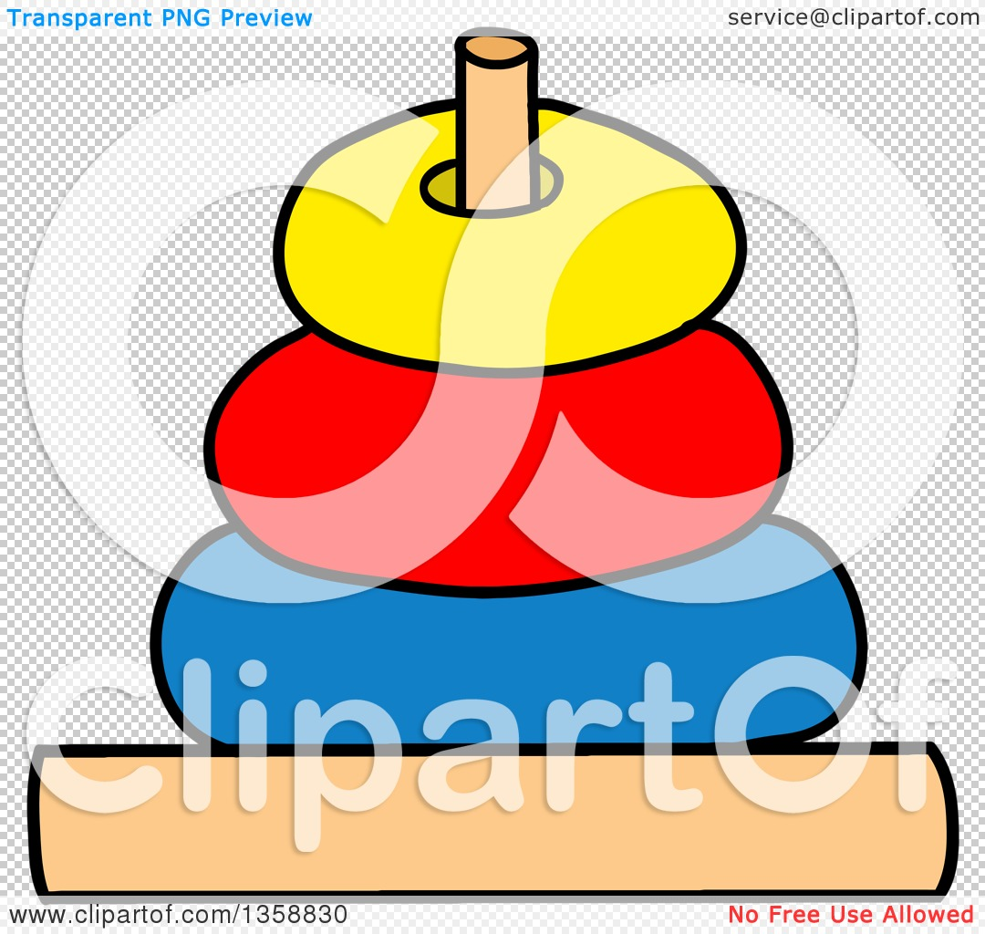 Clipart of a Cartoon Ring Toss or Stack Toy.
