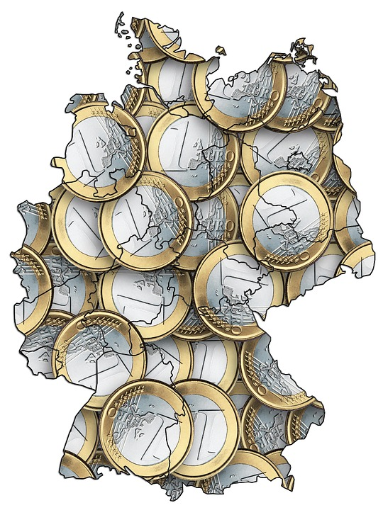Free photo Total Coverage Map Outline Covered Germany Euro.