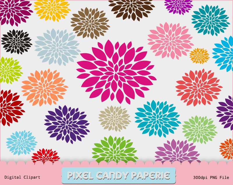 Free Flowers Clip Art Images Pack.