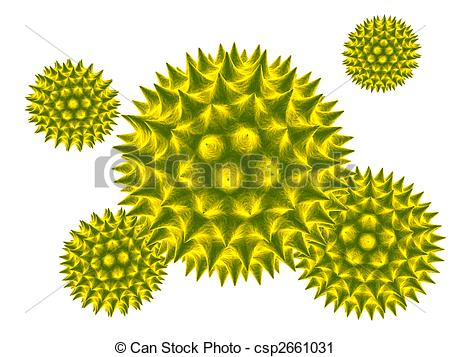 Clipart of pollen.