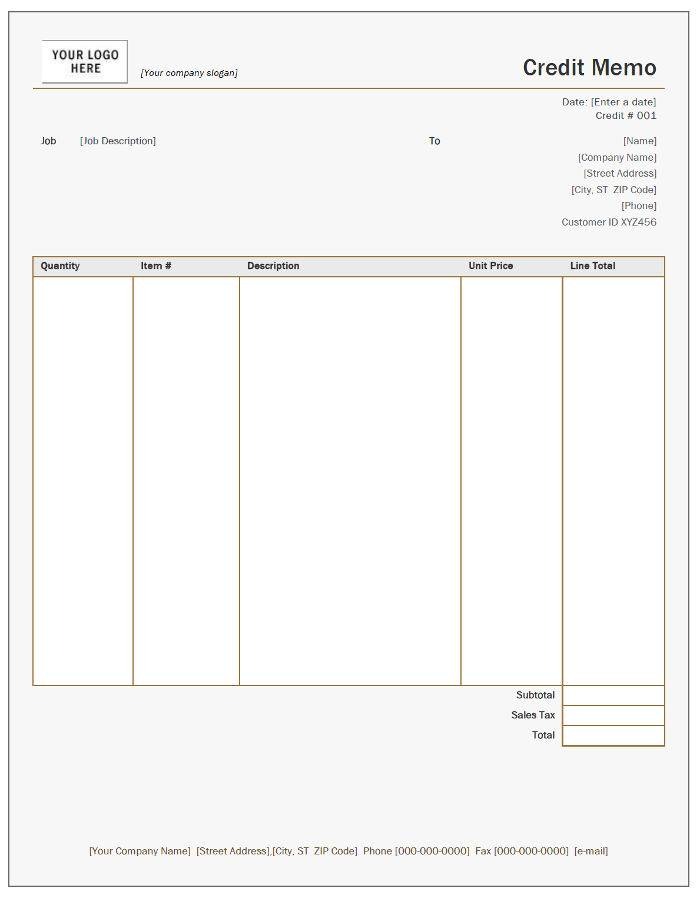 Free Credit Note Templates.