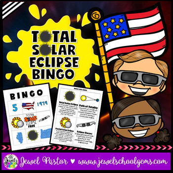 Total Solar Eclipse 2017 Activities (Solar Eclipse 2017 Bingo).