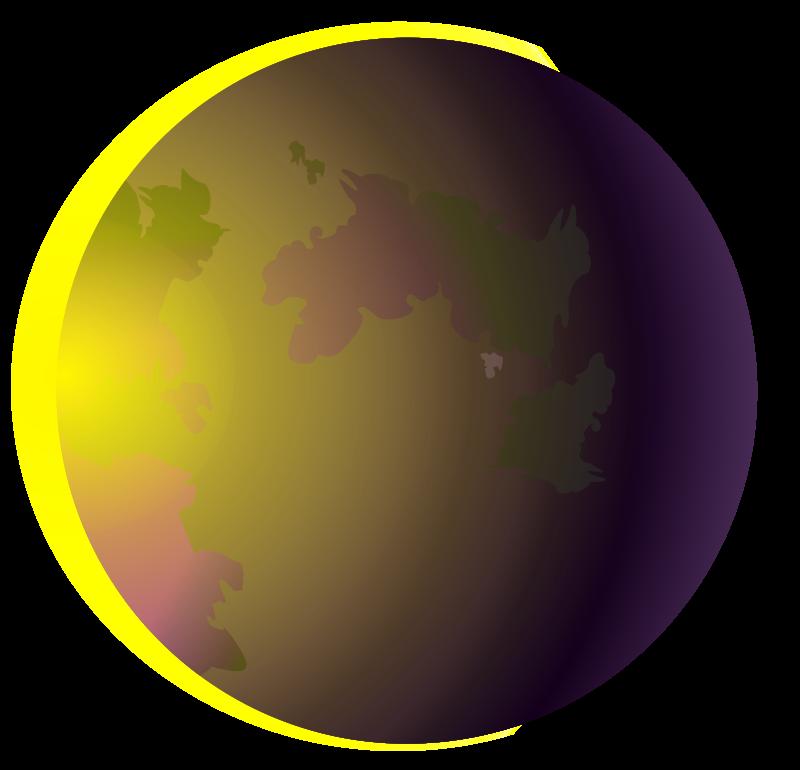 Eclipse clipart.