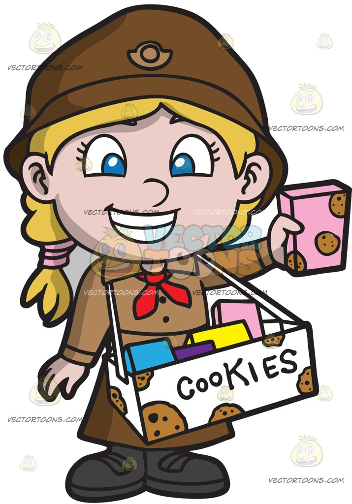 597 Girl Scout free clipart.