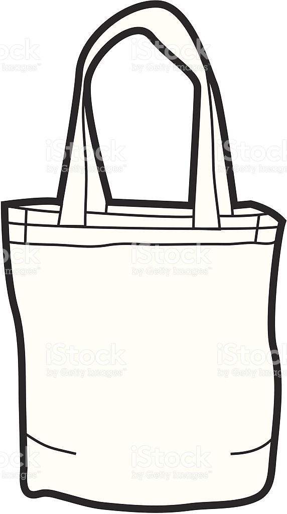 Canvas Tote Bag stock vector art 165035286.