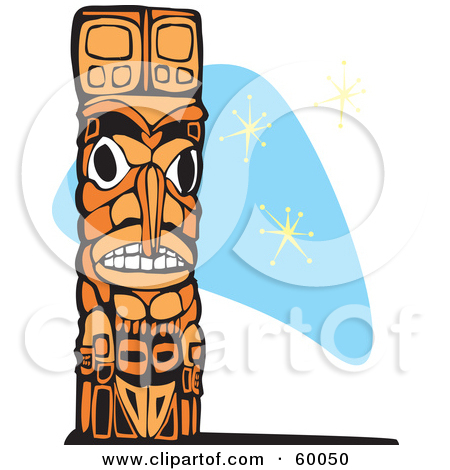 Clipart of a Totem Pole.