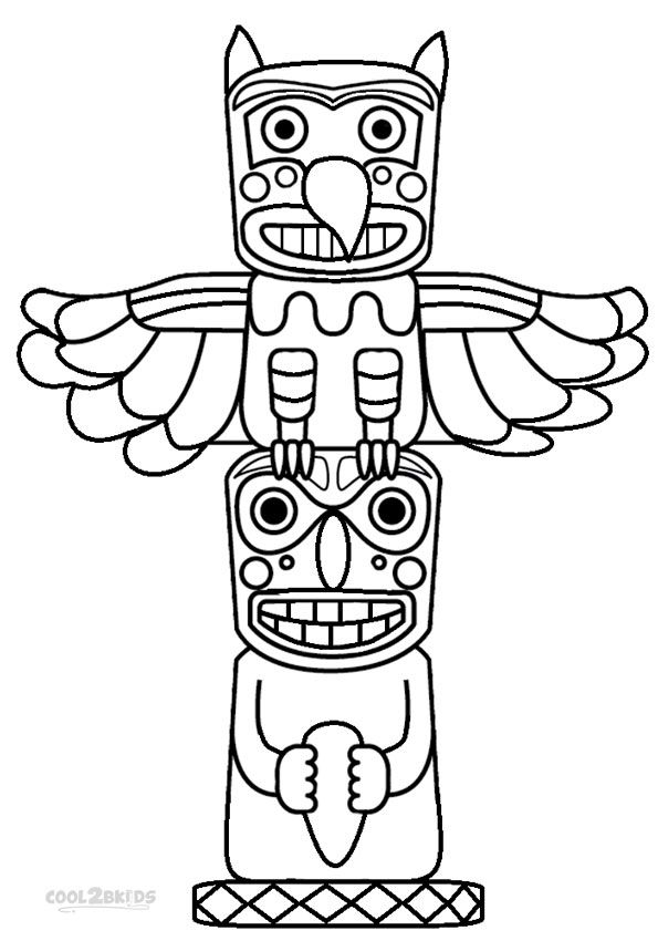 Totem Pole Coloring Pages Printable ….