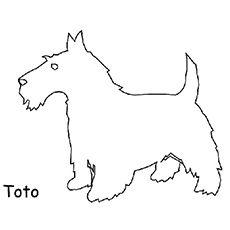 the wiz toto clip art.