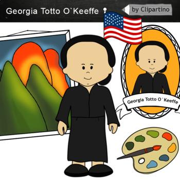 Georgia Totto O`Keeffe clipart.