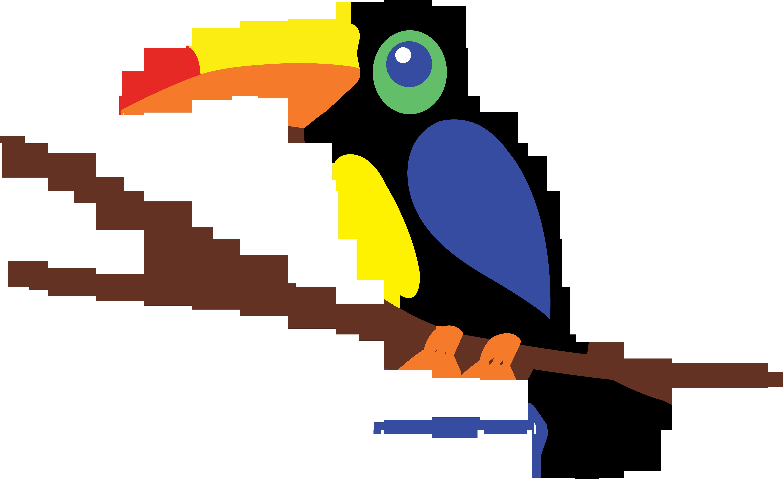Colorful Toucan Clip Art.