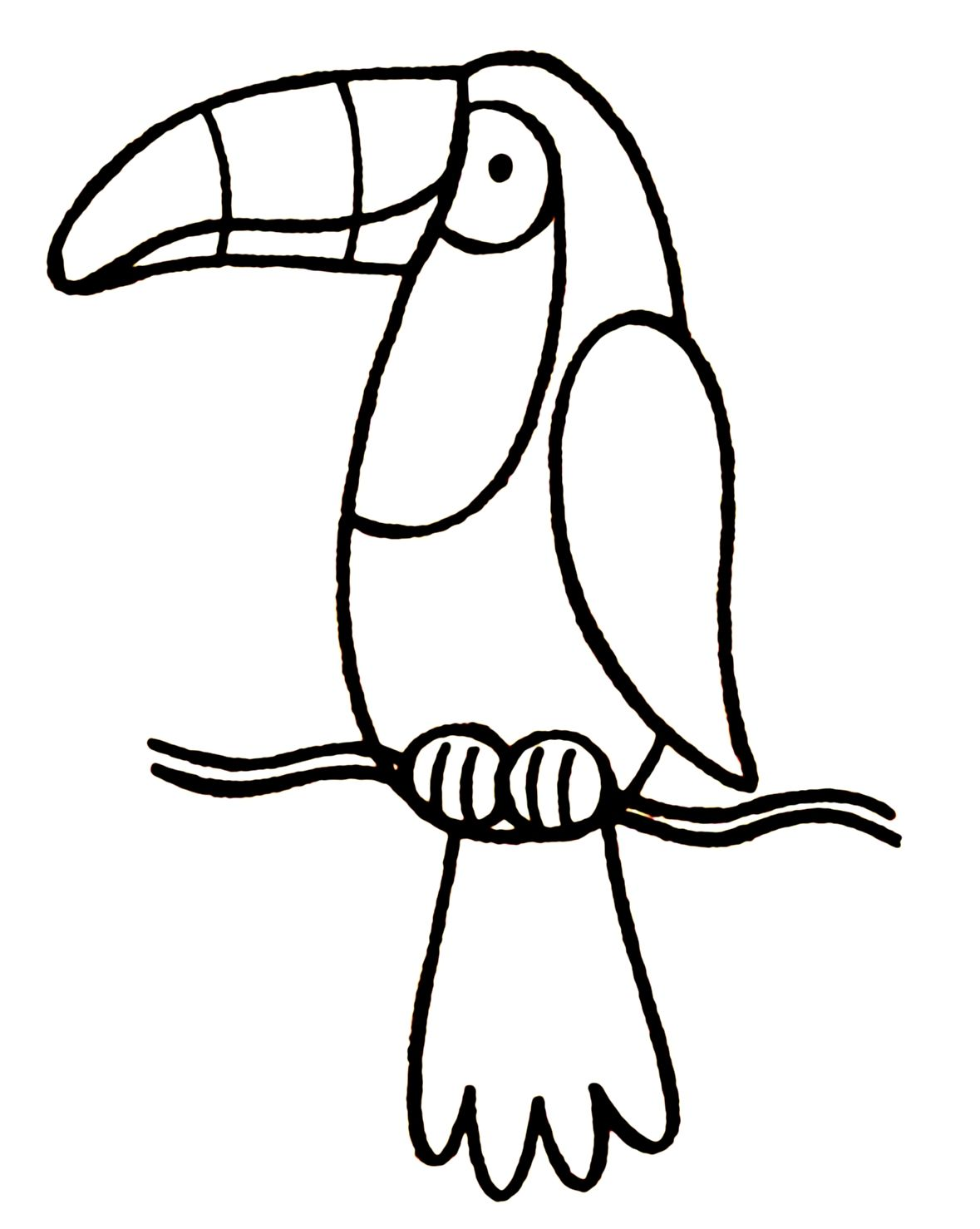 Toucan clipart black and white 4 » Clipart Station.