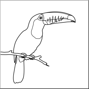 Clip Art: Toucan B&W I abcteach.com.