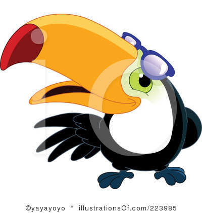 Toucan Clipart Black And White.