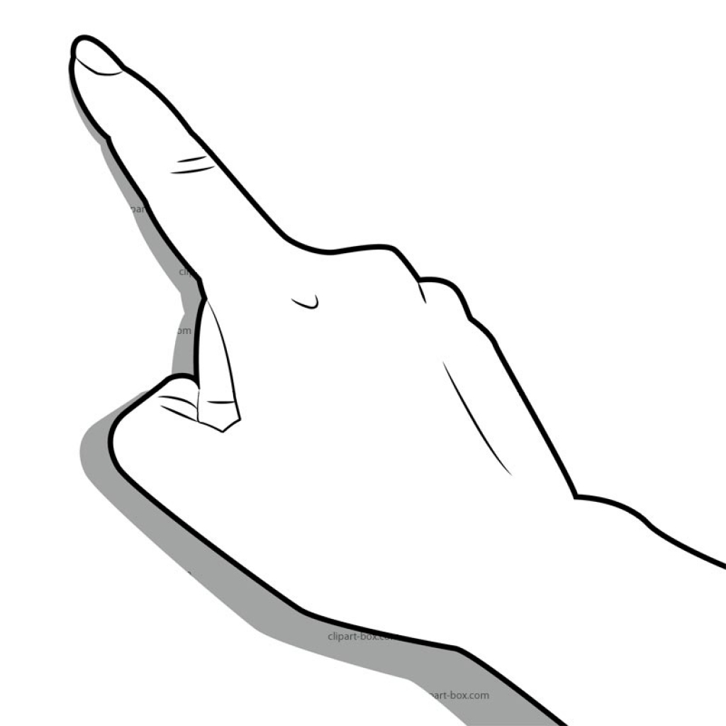 Finger touch clipart.
