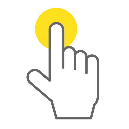 Touch Hand Clipart.