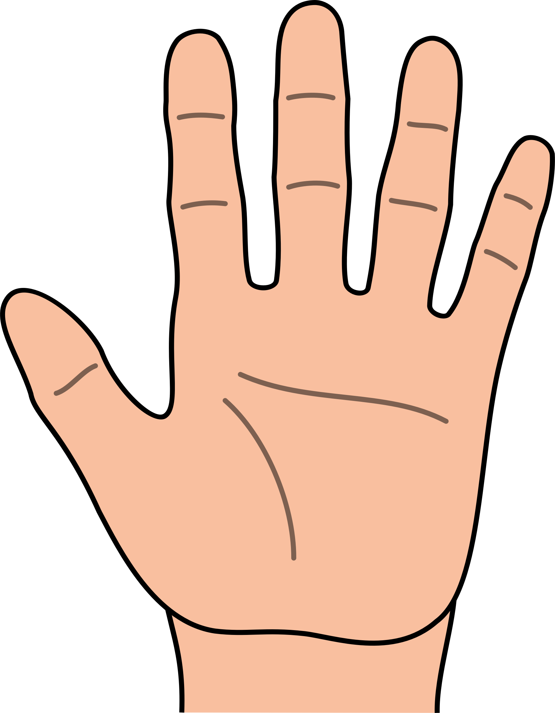 Hand touch clipart.