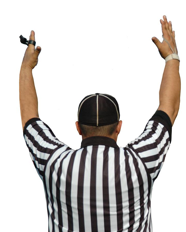 Football Referee Touchdown Clip Art.