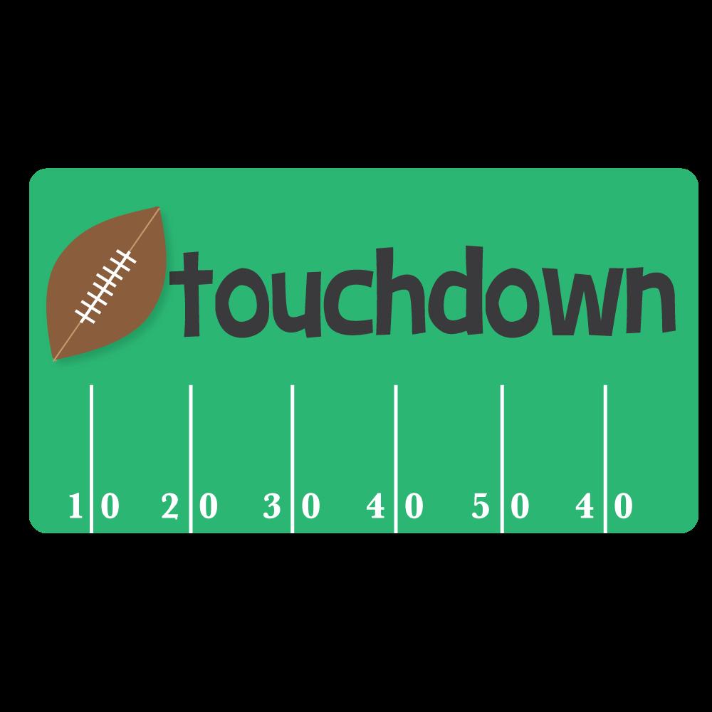 Football touchdown clip art.