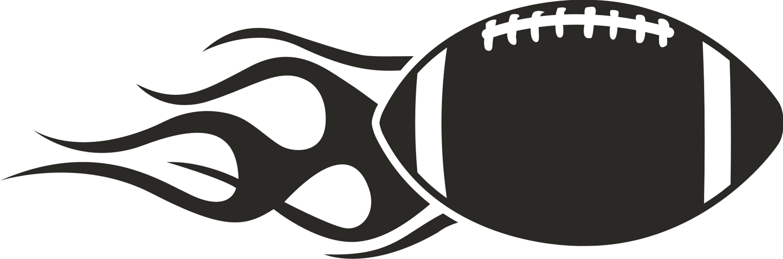 Black And White Football Clipart.