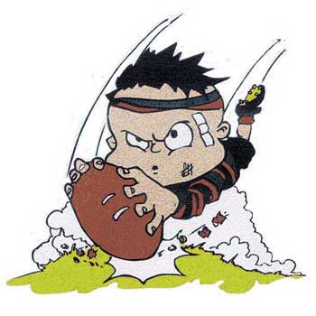 Touch Rugby Clipart.