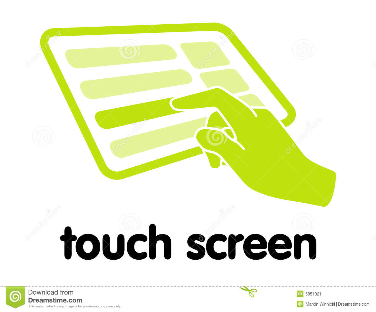 Clipart touch screen.