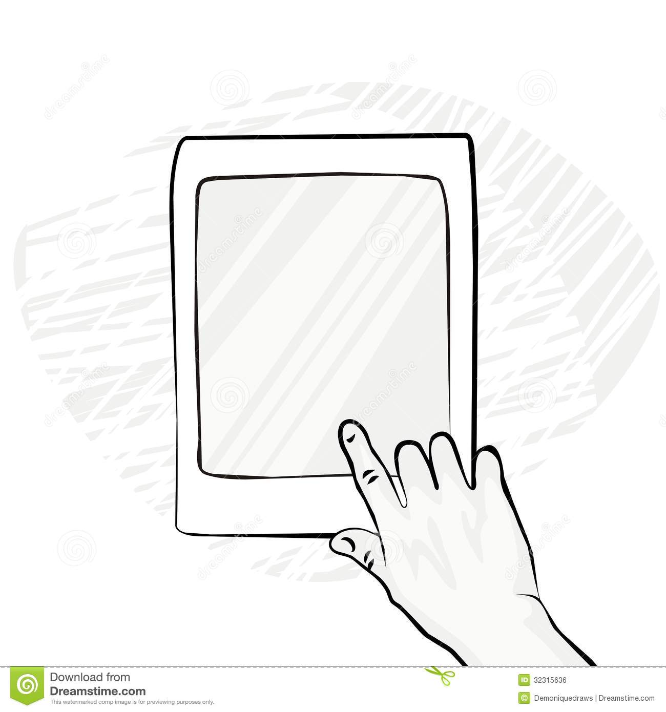Screen Touch Clipart.
