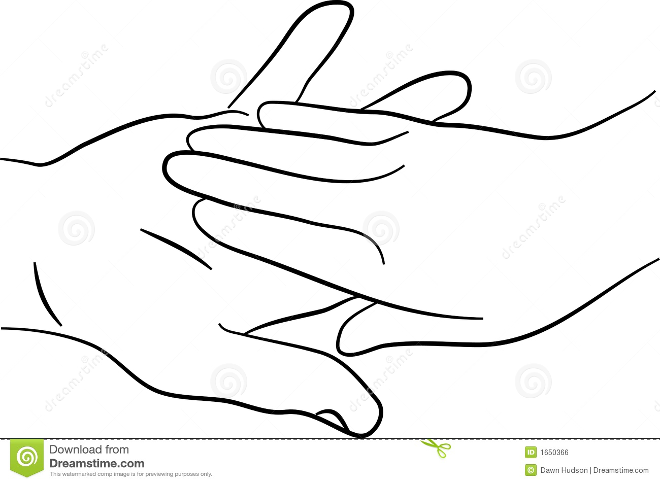 Touching Hands Clipart.