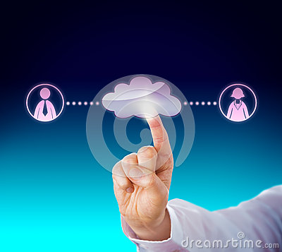 Index Finger Touching Cloud Stock Illustrations.