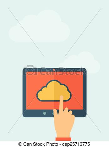 Vectors Illustration of Cloud computing concept..