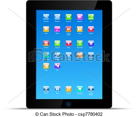 Vector Illustration of Touch pad tablet pc vector concept.