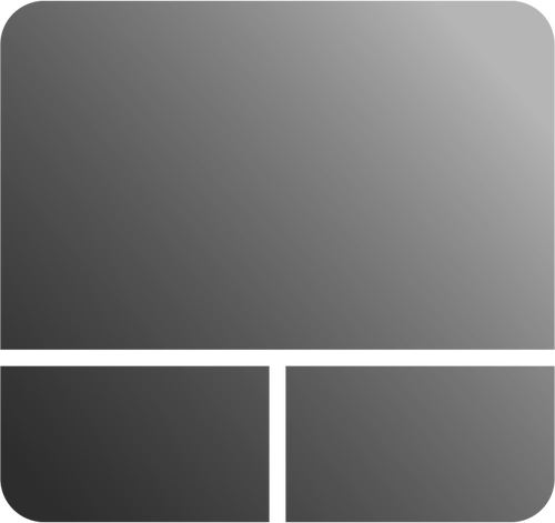 Grayscale touchpad icon vector clip art.