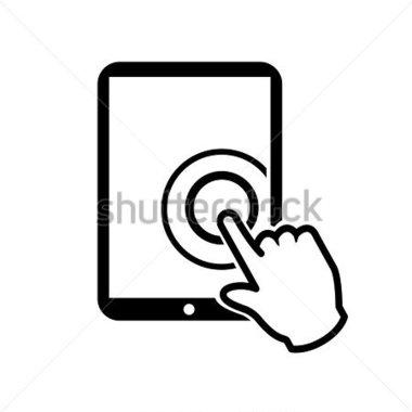 Touch Screen Clip Art.