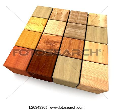 Stock Illustration of Touch wood k26343365.
