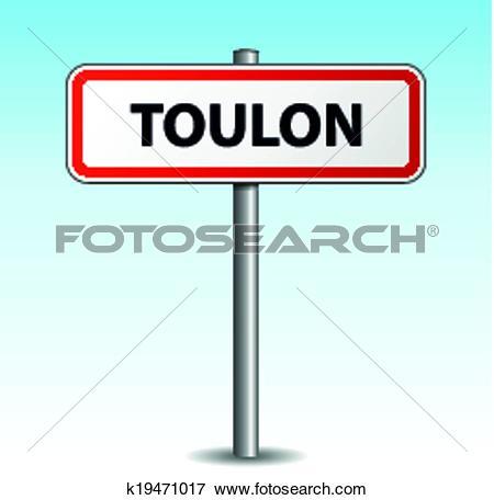 Clip Art of Vector toulon signpost k19471017.