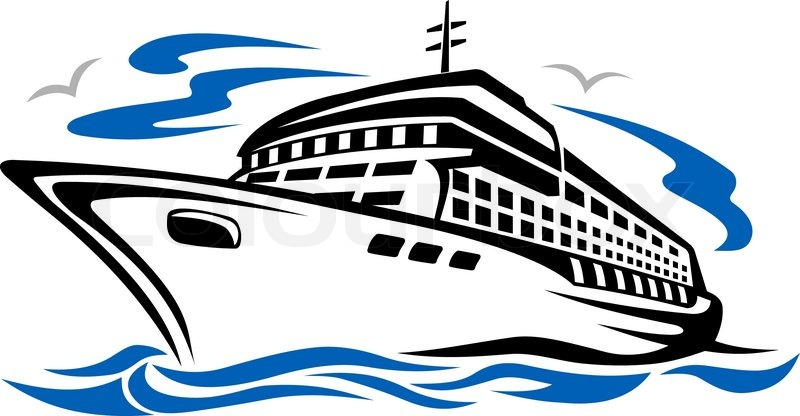 Cruise ship clipart #1