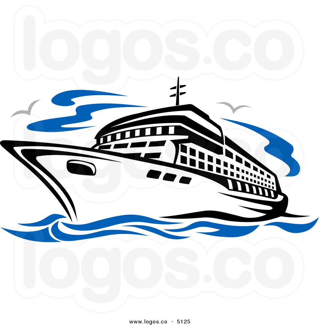 Cartoon Cruise Ship Clipart.