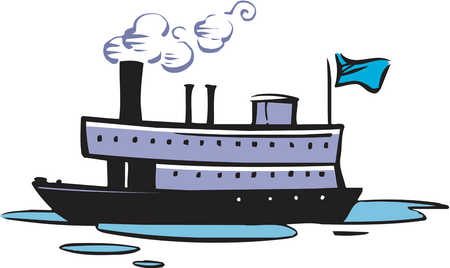 Boat trip clipart.