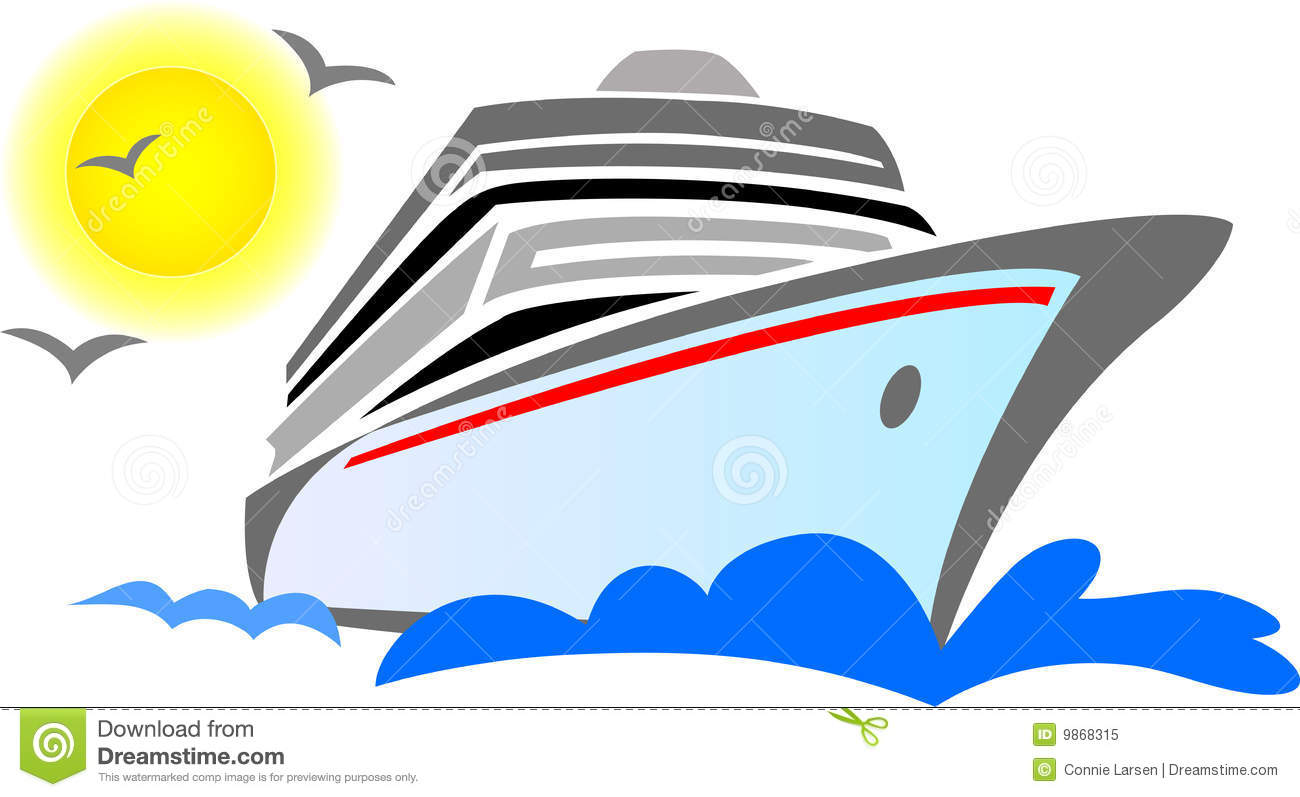 Cruise boat clipart.
