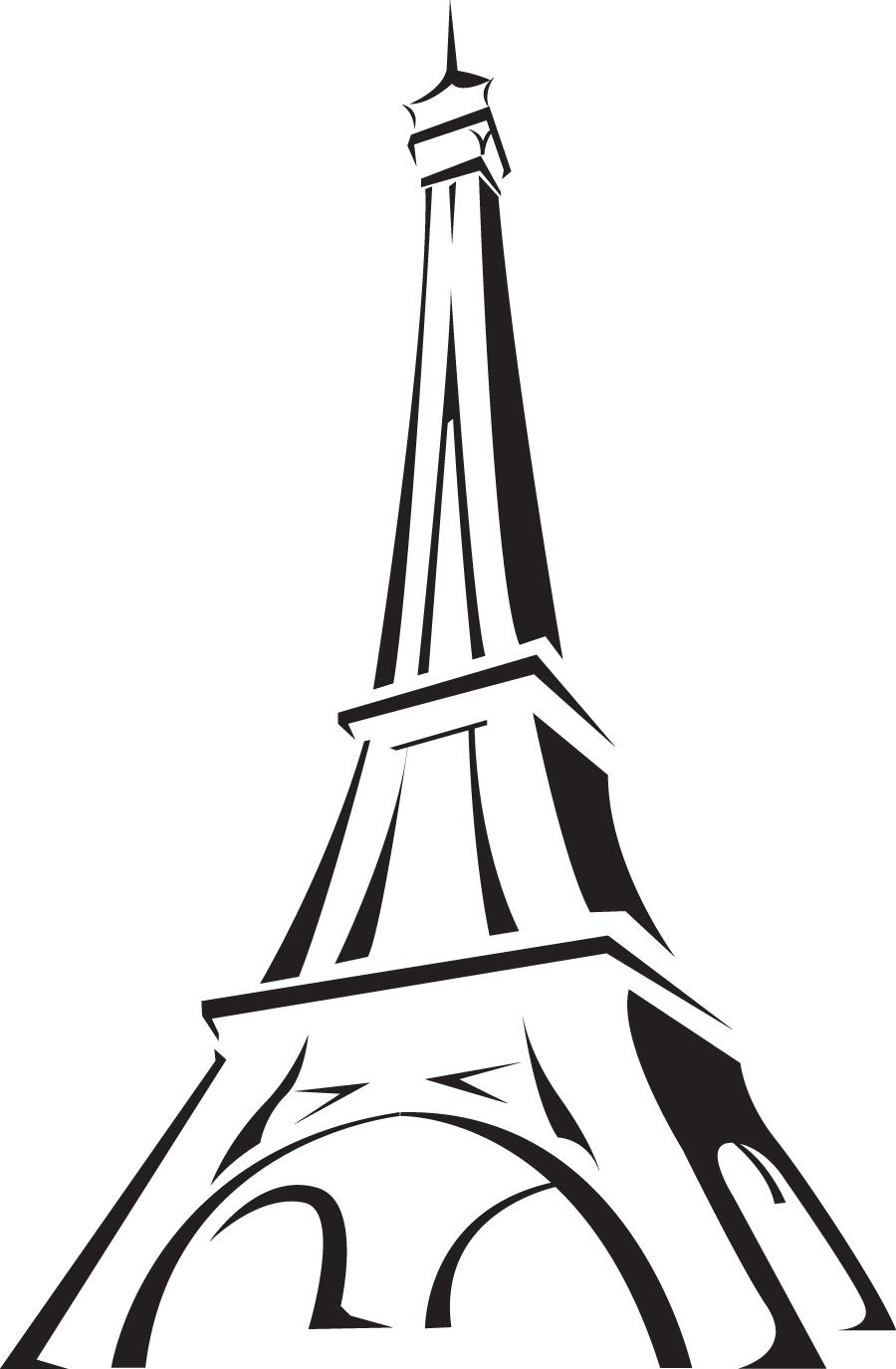 Paris Eiffel Tower Cartoon.