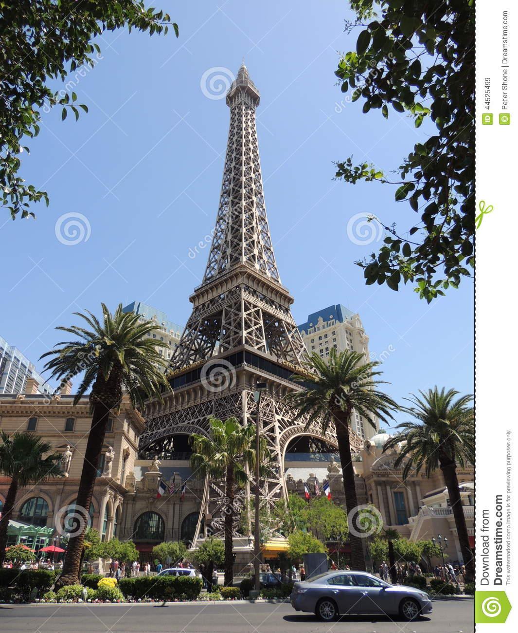 Fake Eiffel Tower In Las Vegas Editorial Stock Image.