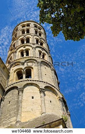Pictures of Romanesque Tour Fenestrelle, Uzes, Gard, Languedoc.